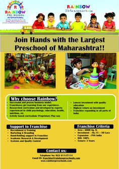 Join hands with the largest preschool of maharashtra
