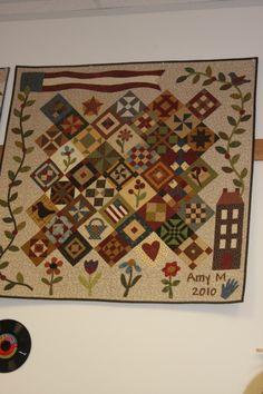 Sampler quilt - I really should make one of those.