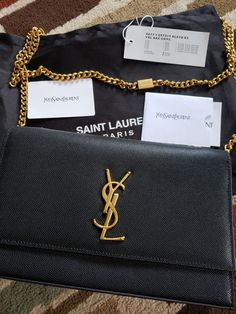 7932225c7420 YSL SAINT LAURENT KATE BAG BLACK MEDIUM GOLD HARDWARE Ysl Bag