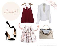 Working women look, skirt and blazer from PURFERVOR.com #womensfashion #trends #fashion