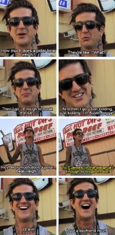 Austin Carlile from Of Mice and Men and Vic Fuentes