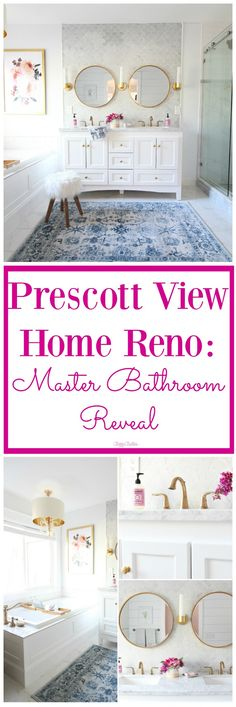 DIY Master Bathroom Renovation that will blow your mind! It is fabulous!! Check it out! classy clutter
