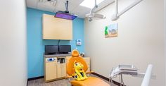 A cute little dentist office at a South Austin pediatric dentist. My babies love it there. http://www.tinytexanspediatricdentistry.com