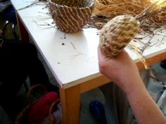 Nancy Today: Coiled Pine needle basket 5 (pine needles 9)