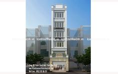 Mẫu thiết kế nhà phố 5,5m x 5 tầng House Outer Design, Home Projects, House Plans, Multi Story Building, Houses, Buildings, House Floor Plans, House Projects, Home Plans