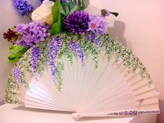 Wedding favors for principal sponsors cherry blossoms Trendy ideas . Wedding Favors For Principal Sponsors, Cherry Blossom Theme, Cherry Blossoms, Hand Held Fan, Hand Fans, Whatsoever Things Are Lovely, Purple Wisteria, Painted Fan, Outdoor Baby