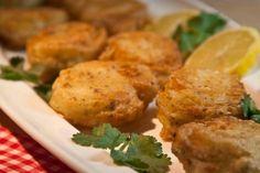 bites of fried cod fish!