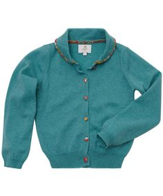 Turquoise Cashmere-Blend Cardigan