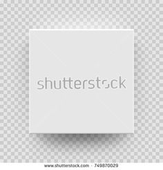 White box mock up model 3D top view with shadow. Vector isolated blank cardboard open or white paper matchbook container box package template on transparent background.