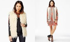 Free People Reversible Embroidered Faux-Fur Vest