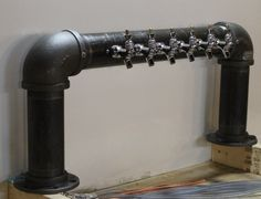6 tap custom draft beer tower glycol cooled. Wine by TappedBeer