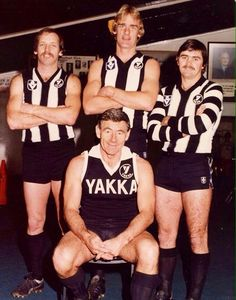 Tom Hafey, Ray Shaw. Peter Moore and Ray Byrne (?)