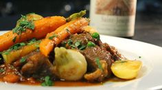 Lamb stew with spring vegetables recipe : SBS Food Lamb Recipes, Meat Recipes, Healthy Recipes, Cheese Recipes, How To Cook Lamb, Lamb Stew, Vegetable Casserole, Main Meals, Soups And Stews