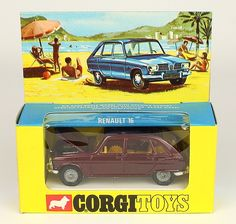 rare box corgi Toys Renault 16 w/detachable header card Matchbox Autos, Toy Model Cars, Cool Things To Buy, Old Things, Corgi Toys, Vintage Ads, Scale Models, My Childhood, Hot Wheels