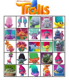 trolls movie 2016 bingo