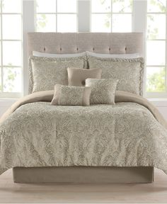 Diana 7 Piece Jacquard Comforter Sets - Bed in a Bag - Bed & Bath - Macy's  I love the elegance of this