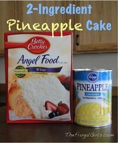What's dinner without a tasty dessert? If you're looking for a Angel Food Pineapple Dessert, I've got just the thing…2-Ingredient Pineapple Angel Food Cake!
