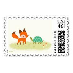 Whimsical Woodland Stamp http://www.zazzle.com/whimsical_woodland_stamp-172781622339546662?rf=238194283948490074&tc=pin #shower #babyshower #cute #woodlandcreatures #animals #forest #turtle #fox #hallmark #bunnies #trees #babyboyshower #babygirlshower #simple #sweet #friends #animalfriends #illustration #mushrooms #woodland #stamp