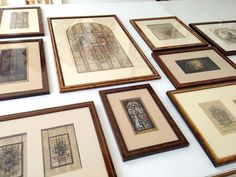 Marquetry frames.
