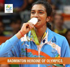 Hearty congratulations to  #PVSindhu.#Olympics2016