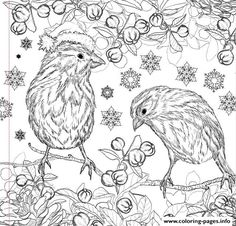 Print christmas design adult coloring pages