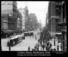 Collins Street from Elizabeth Street, Melbourne 1916 (1)   Flickr - Photo Sharing!