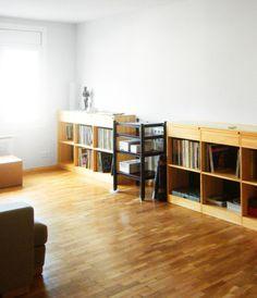 Sala de música. Zona de audición de la colección musical. Diseño y reforma de 08023 Arquitectos - Barcelona