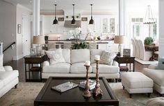 Open Floor Plan Inspiration   Decorating Home Decor Farmhouse Chic
