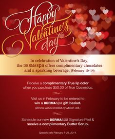 Spa Promotions for Valentine's Day!