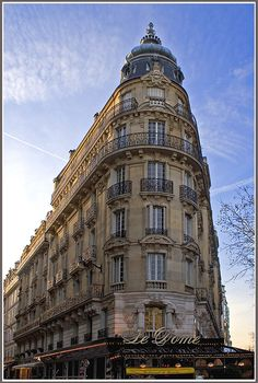 Rita Crane Photography: Paris / historic cafe / Haussman architecture / building / Montparnasse / restaurant / Le Dome in Winter, Paris by Rita Crane Photography, via Flickr