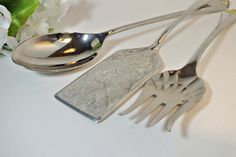 Silver Plate Serving Pieces  3 Piece Set  Large by DinneratSeven