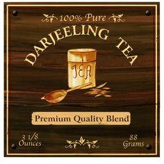 Darjeeling tea Art Print. $25.00, via Etsy.