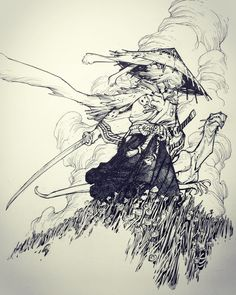 Usagi Yojimbo by Eric Canete * - Art Vault Ink Illustrations, Illustration Art, Drawing Sketches, Art Drawings, Drawing Art, Usagi Yojimbo, Arte Sketchbook, Graffiti, Samurai Art