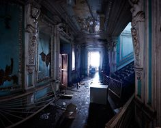 Abandoned in Russia.  So sad.  You can tell how elegant this place used to be.