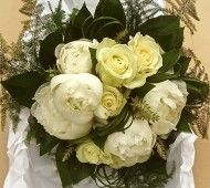 White roses and Peonie flowers