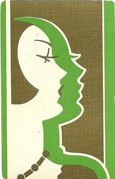 Vintage Art Deco playing card