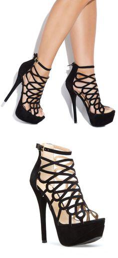 Black Cutout Heels ♥