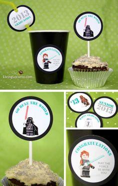 Star Wars Graduation Free Party Printables via LivingLocurto.com #legos #starwars #party