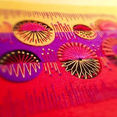 ♒ Enchanting Embroidery ♒ embroidered circles | Stitch detail  by Applique Originals