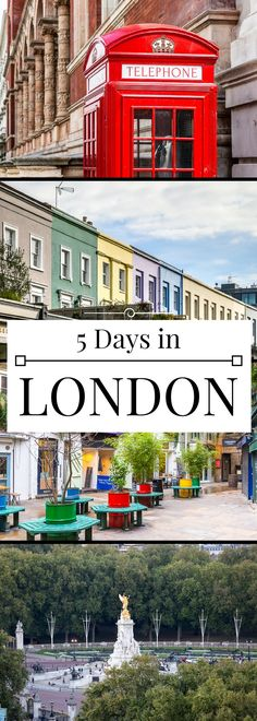 A lovely 5-day London itinerary