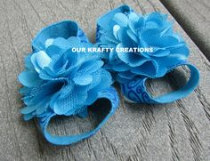 Turquoise Sandals, Baby Girl Sandals, Baby Sandals, Barefoot Sandals, Elastic Sandals, Photo Shoot Prop by OurKraftyCreations on Etsy
