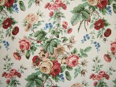 'Evesham Rose' by fabric designers Colefax & Fowler.  Shop for discounted designer fabric at Digby and Willoughby by Honor Murray Interiors.  'Evesham Rose' Was £18.50/m NOW £13.99/m.