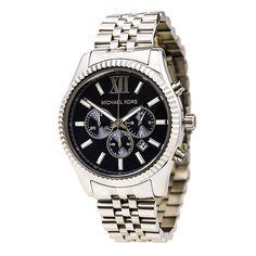 Michael Kors MK8280 Men's Lexington Navy Blue Dial Stainless Steel Bracelet Chronograph Watch