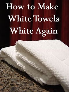 If you have white towels, you may notice that they are not as white as they used to be. Wouldn't you love to have towels or sheets as white as in a hotel. In order to get your towels back to sparkling white, try the following solutio...
