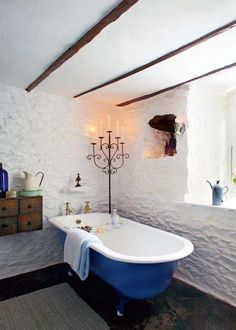 Restoring a thatched cottage | Period Living | Irish cottage bathroom
