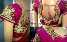 Chic Zardosi Designer Floral Blouse | Saree Blouse Patterns