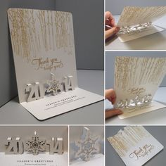 Creative, unique, special wedding invitation design! Paper engineering, paper art, paper craft, paper folding!