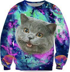 Cheeseburger space cat hoodie