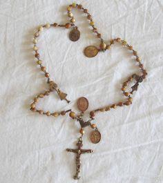 Antigüedades: Rosario S. XVIII, Virgen del Pilar - Foto 2 - 59775196