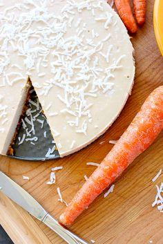 Raw Carrot Cake Coconut Cream Pie